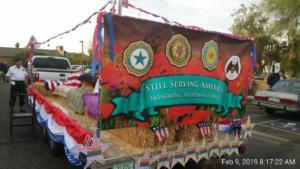 Banner on float